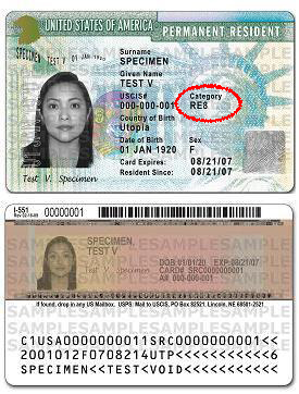 "What is ""Class of Admission"" on Form I-90? 