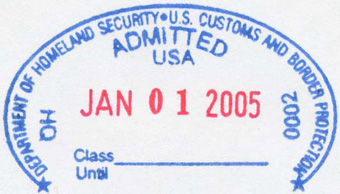 US Green Card Admission Stamp