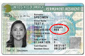 Class of Admission on Green Card