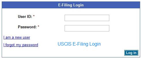 USCIS E-Filing Login