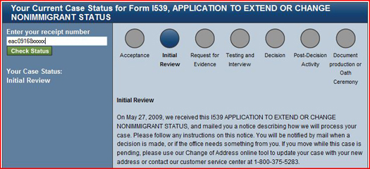 Uscis Case Status Update Processing Steps