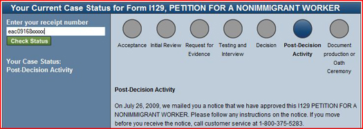 USCIS Case Status Post-Decision Activity