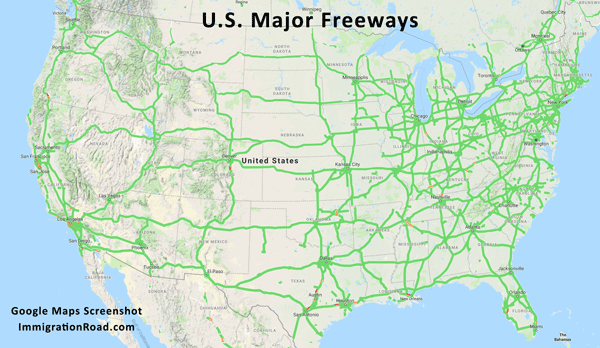 U.S. Interstate Map